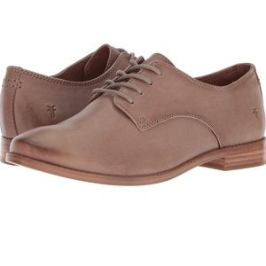 FRYE Anna Oxford Ash Leather Lace Up Shoes Sz 10